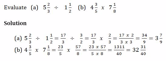 MATHEMATICS FORM ONE NOTES TOPIC 2:FRACTIONS